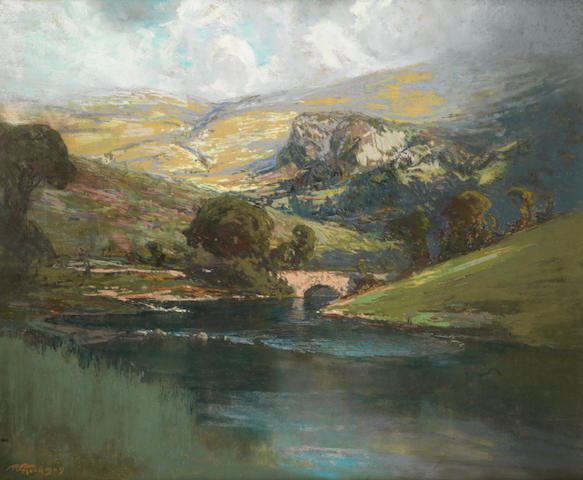 Robert Gwelo Goodman (South African, 1871-1939) 'The Borrowdale Valley, Westmoreland'