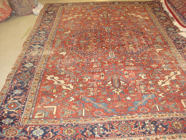A Heriz carpet, North West Persia, 325cm x 237cm