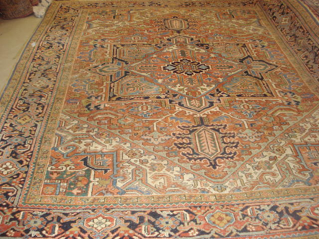 A Heriz carpet, North West Persia, 310cm x 268cm