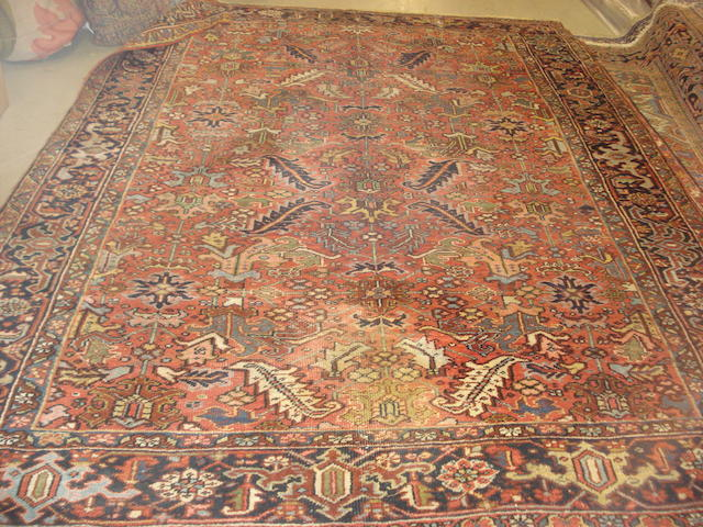 A Heriz carpet, North West Persia, 318cm x 234cm
