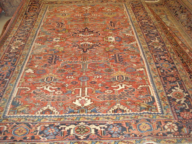 A Heriz carpet, North West Persia, 296cm x 213cm