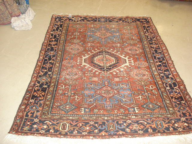 A Karaja rug, North West Persia, 187cm x 139cm, together with two others (3)
