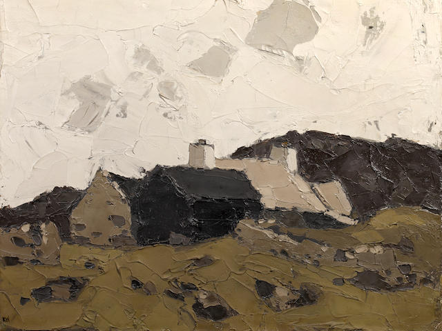 Sir Kyffin Williams R.A. (British, 1918-2006) Farm at Mynydd Bodafon,