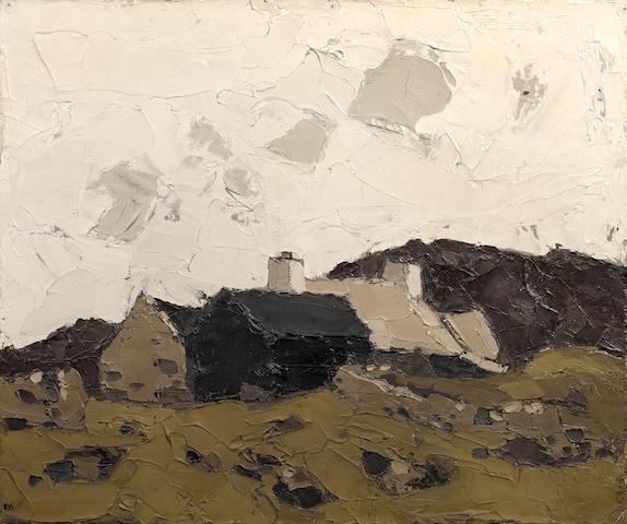 Sir Kyffin Williams R.A. (British, 1918-2006) Farm at Mynydd Bodafon,