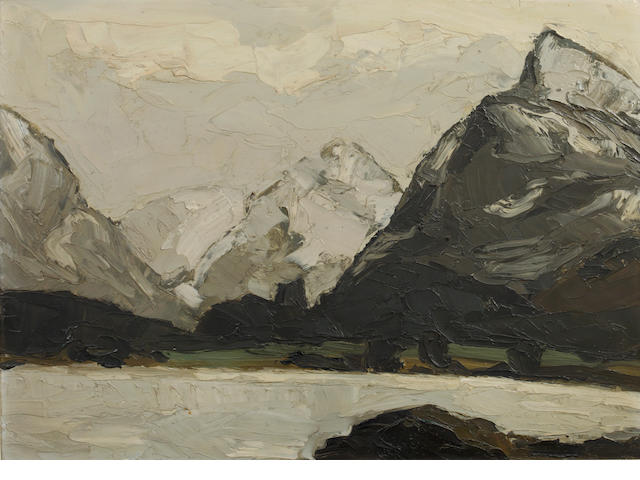 Sir Kyffin Williams R.A. (British, 1918-2006) 'Llyn Padarn'