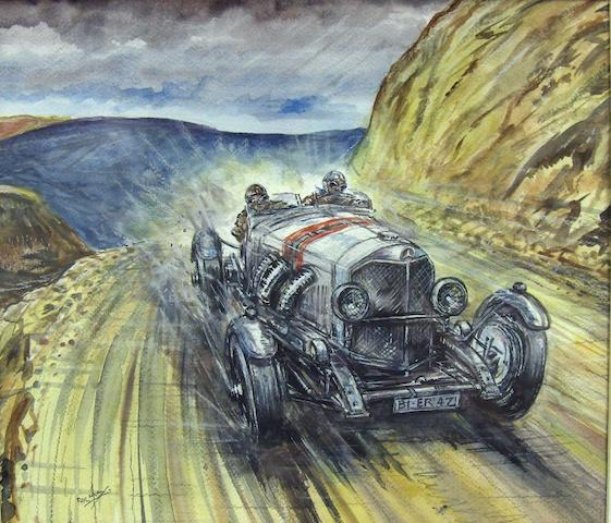 Phil May: Mercedes Benz SSK on the Pikes Peak hillclimb,