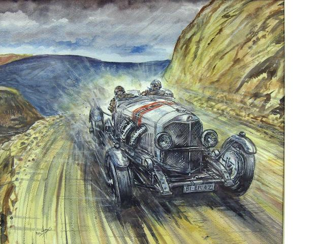 Phil May: Mercedes Benz SSK on the Pike Peak hillclimb,