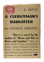 ORWELL (GEORGE) A Clergyman's Daughter, UNCORRECTED PROOF OF THE FIRST EDTION, DUST-JACKET, 1935