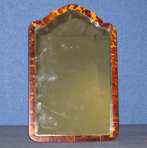 An ivory and tortoiseshell dressing table mirror'Ivorshell Creations' label