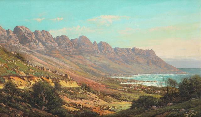 Marthinus (Tinus) Johannes de Jongh (South African, 1885-1942) Camps Bay (Twelve Apostles)