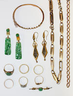 A collection of antique and later jewellery,