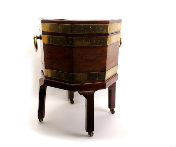 A Scottish George III mahogany cellaret