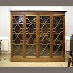 An Edwardian mahogany display cabinet