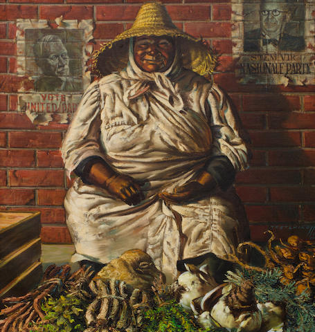 Vladimir Griegorovich Tretchikoff (South African, 1913-2006) The Herb Seller