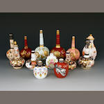 A collection of thirteen various English porcelain scent bottles, 19th and early 20th century