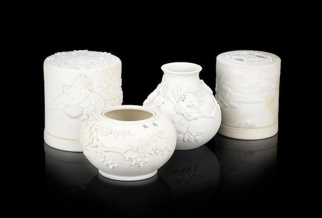 Four ceramic implements for the Scholar's studio