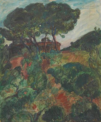Sir Matthew Smith (1879-1959) Landscape 61 x 50.8 cm. (24 x 20 in.) (unframed)