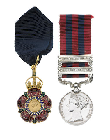 A C.I.E. pair to Lieutenant Colonel J.C.Lamont, Indian Medical Service,