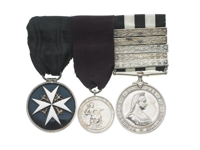 An Order of St.John and Medal of the Order of the British Empire group of three to F.Jackson, St.John Ambulance Brigade,