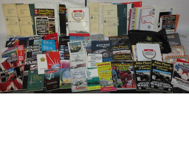 A quantity of post-War British Grand Prix race programmes