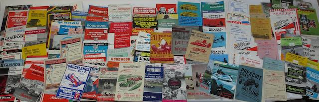 A quantity of assorted British race programmes,