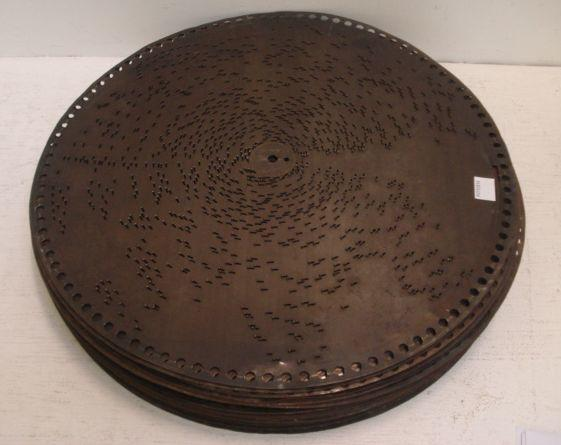 A collection of 24 Polyphon discs, 40cm diameter,