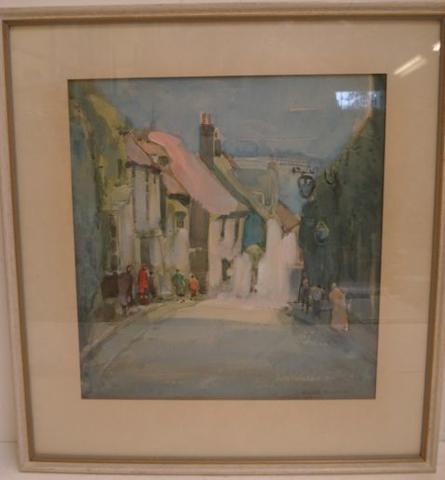 Arthur Henry Knighton Hammond (British, 1875-1970) A Street in Rye 31 x 29cm.