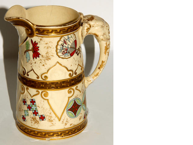 A Royal Worcester pottery jugCirca 1880
