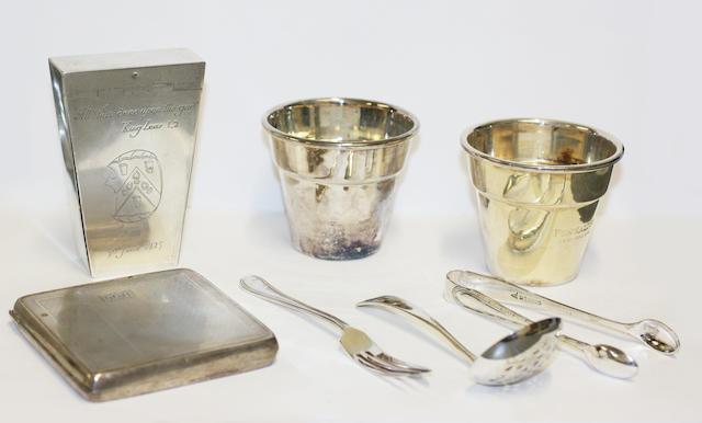 A Britannia Standard silver George V billet-shaped snuff box,