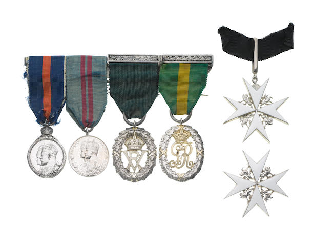 An Order of St John group of five to W.H.Bull, Army Medical Service,