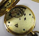 W. Campbell, London. An 18ct gold keyless wind chronograph full hunter pocket watchCase and Movement No.60481, Circa 1881
