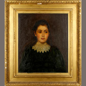 English School, early 20th Century Portrait of a young girl, Margaret Bunbury Foote