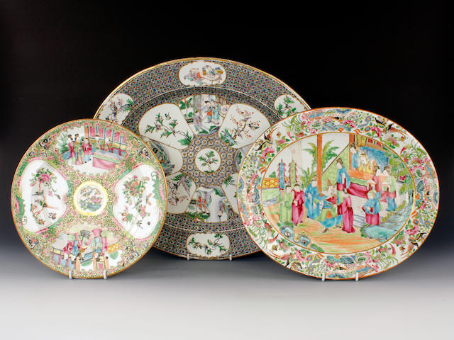 Three Royal Worcester pieces decorated by Po Hing, circa 1875