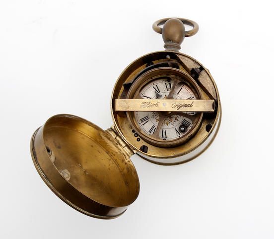 A late 19th century portable watchman timepiece Niehus Brothers, Bristol