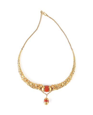 An Eastern Tibetan gold necklace