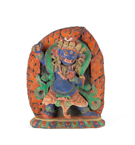 A painted terracotta sculpture