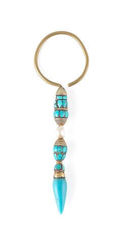 A Tibetan or Himalayan earring 19th or 20th century