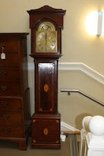 A George III and later mahogany, amboyna and inlaid longcase clock Matthew Lyon