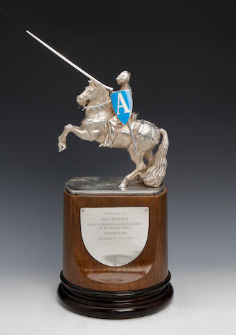 A silver novelty trophy by Antony Gordon Elson, London 1989