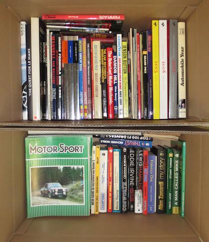 A quantity of motoring and motorsport related books,