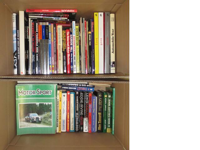 A quantity of motor and motorsport related books,