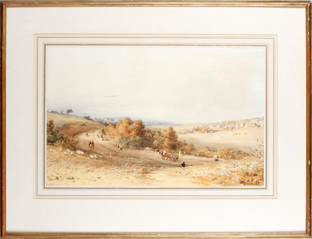 John Tennant 19th Century Country scene, figures on road