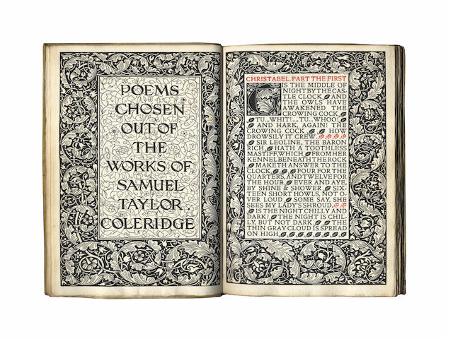 KELMSCOTT PRESS COLERIDGE (SAMUEL TAYLOR) Poems Chosen Out of the Works, [LIMITED TO 300 COPIES].1896