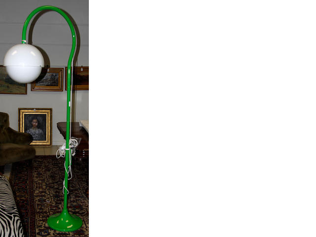 Luigi Bandini Buti for Kartell, a floor lamp, designed 1965 enamelled metal stand and counterweight with perspex shade