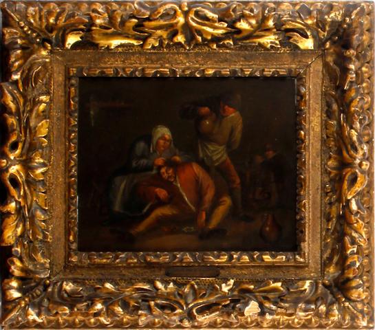 Adriaen van Ostade Woman de-lousing a man
