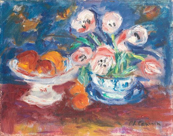Charles Camoin (French, 1879-1965) Nature morte avec fleurs et fruits