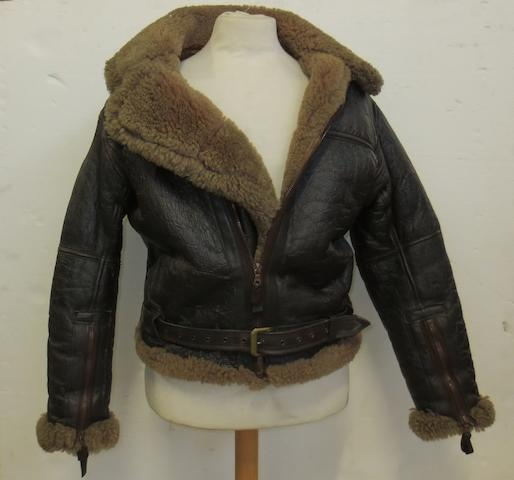 An Irvin RAF sheepskin flying jacket,