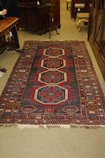 A West Persian rug 282cm x 149cm.