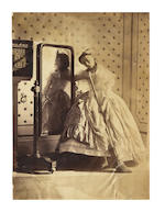 HAWARDEN (CLEMENTINA MAUDE, Viscountess) An important collection comprising 37 albumen prints by Lady Hawarden, a pair of pencil sketches of Clementina Hawarden and her husband, and 15 associated albumen prints (several possibly by Lady Hawarden)