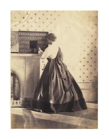 HAWARDEN (CLEMENTINA MAUDE, Viscountess) An excptional archive comprising 37 albumen prints by Lady Hawarden, a pair of pencil sketches of Clementina Hawarden and her husband, and 15 associated albumen prints, [c.1857-1864]